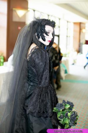Black Wedding Dress from Original: Gothic Lolita / EGL / EGA worn by Mistress Mel