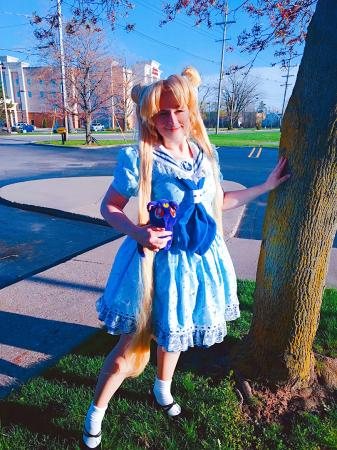 Usagi Tsukino from Sailor Moon worn by Pocky Princess Darcy