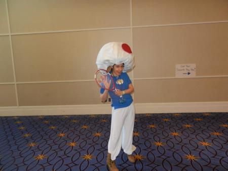 Toad from Mario Power Tennis worn by Dokudel