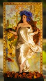 Fall from Alphonse Mucha Artwork