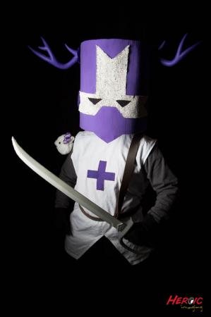Purple Knight from Castle Crashers worn by ILTXFILES