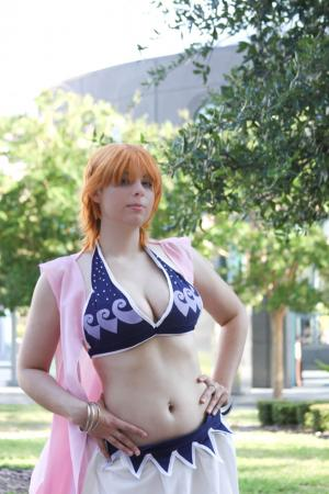Nami from One Piece worn by Hooded Woman