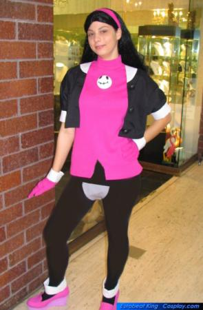 Tron Bonne from Mega Man worn by Hooded Woman