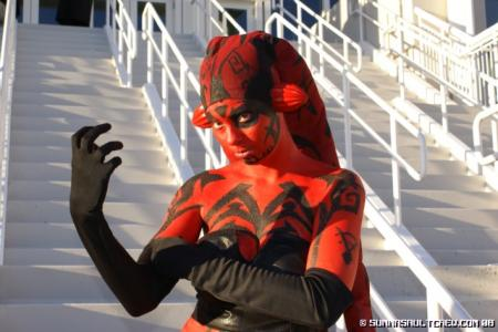 Darth Talon from Star Wars: Legacy worn by Hooded Woman