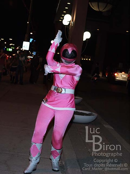 Think, Pink power ranger costume was and