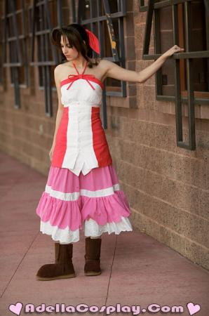 Aeris / Aerith Gainsborough from Kingdom Hearts 2 worn by Adella