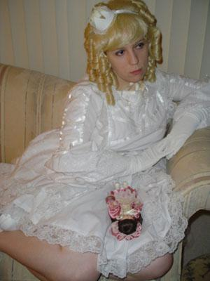 White Lolita from Original: Gothic Lolita / EGL / EGA worn by Hinoto