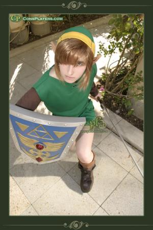 Link from Legend of Zelda: A Link to the Past worn by Li Kovacs