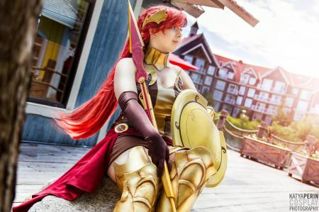 Pyrrha Nikos from RWBY by bossbot