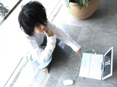 L / Ryuuzaki from Death Note worn by Cvy