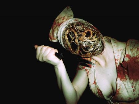 Bubble Head Nurse from Silent Hill 2 worn by Adnarimification