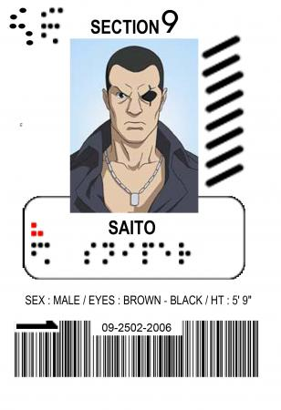Saito from Ghost in the Shell S.A.C