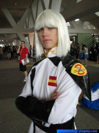 Yzak Jule from Mobile Suit Gundam Seed Destiny worn by Relena Warcraft