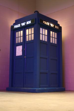 Tardis from Doctor Who worn by Sketch