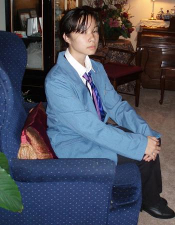 Haruhi Fujioka from Ouran High School Host Club worn by Celeste Orchid
