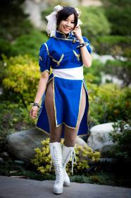 Chun Li from Street Fighter II worn by Celeste Orchid