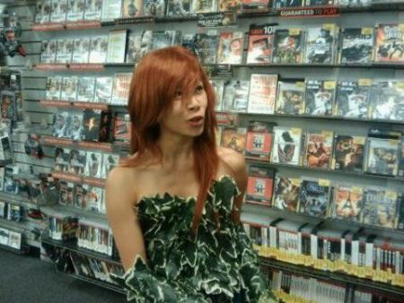Poison Ivy from Batman worn by Celeste Orchid