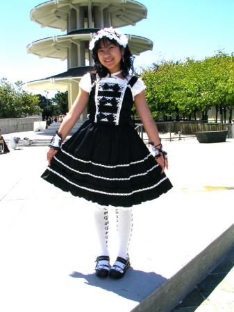Black and White Lolita from Original: Gothic Lolita / EGL / EGA worn by Janelle Ann
