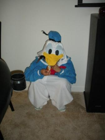 Donald Duck from Disney worn by Janelle Ann