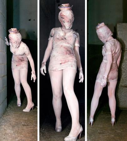 Bubble Head Nurse from Silent Hill 2 worn by Dia