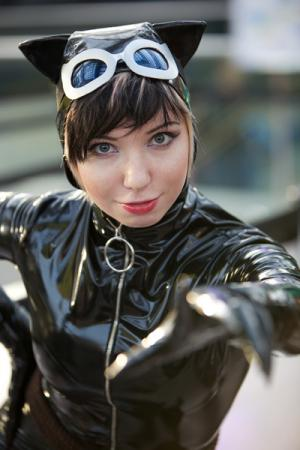 Catwoman from Batman worn by Mecha Faux