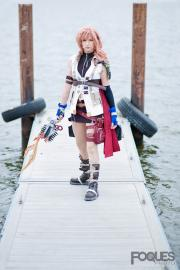 Lightning from Final Fantasy XIII worn by Sailor Anime