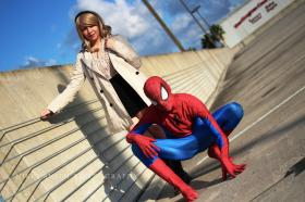 Gwen Stacy from Spider-man worn by Invincible Kiwi