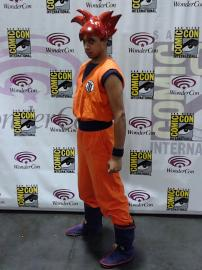 Goku from Dragonball Z worn by Black Gokou