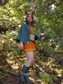 Viera Green Mage from Final Fantasy Tactics A2 worn by Narnian