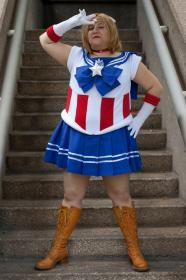 Captain America from Marvel Comics worn by Reiko Fanel