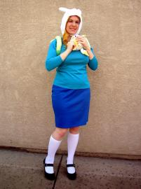 Fionna from Adventure Time with Finn and Jake worn by Mirai Noah