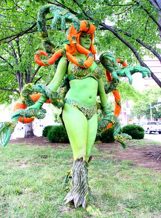 Poison Ivy from Batman worn by Awesome Possum