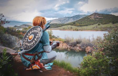 Link from Legend of Zelda: Breath of the Wild by Anijess3