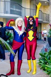 Captain Marvel from Marvel Comics worn by Mags