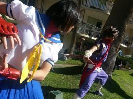 Sakura Kasugano from Street Fighter IV worn by Odoru Kakutouka