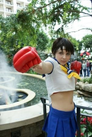 Sakura Kasugano from Street Fighter IV worn by Fong