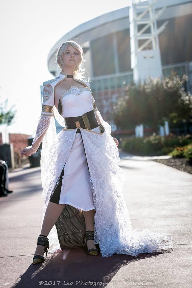NEW Origial Final Fantasy XV Lunafreya Nox Fleuret Cosplay Dress