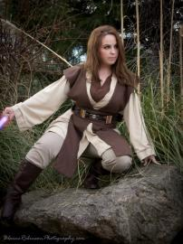 Jedi from Star Wars worn by Kitteh Cosplay