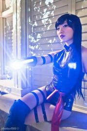 Psylocke from X-Men worn by Stella Chuu
