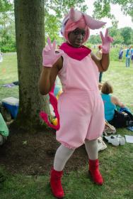 Cutemon from Digimon Xros Wars worn by Ladymatsuura