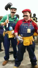 Luigi from Super Mario Brothers Series worn by Jimbosmash