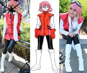 Haruko Haruhara from FLCL worn by Candice Marisa