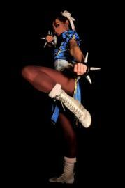 Chun Li from Street Fighter II worn by Chun-Li