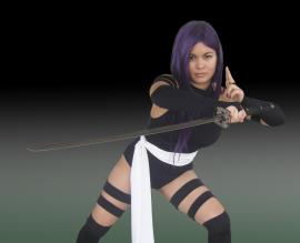 Psylocke from X-Men worn by Caroline Cosplay