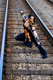 Scorpion from Mortal Kombat worn by Malicious Cosplay