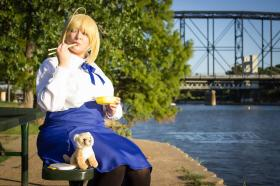 Saber from Fate/Stay Night worn by Nini Valentine