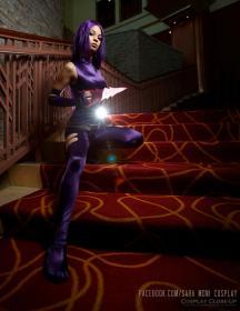 Psylocke from X-Men worn by Sara Moni