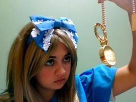 Alice from Alice in Wonderland worn by Emmy Doll